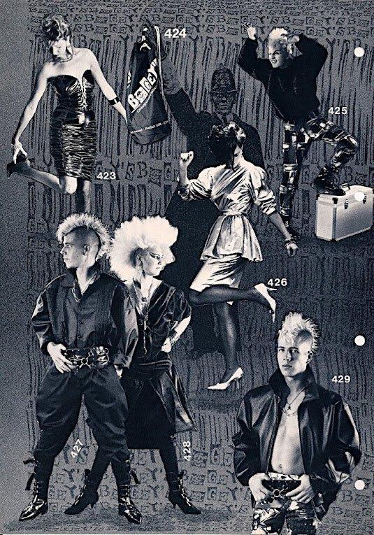 Schwarzer Modeguide Der 80er Zwischen Bogey 39 S Katalog
