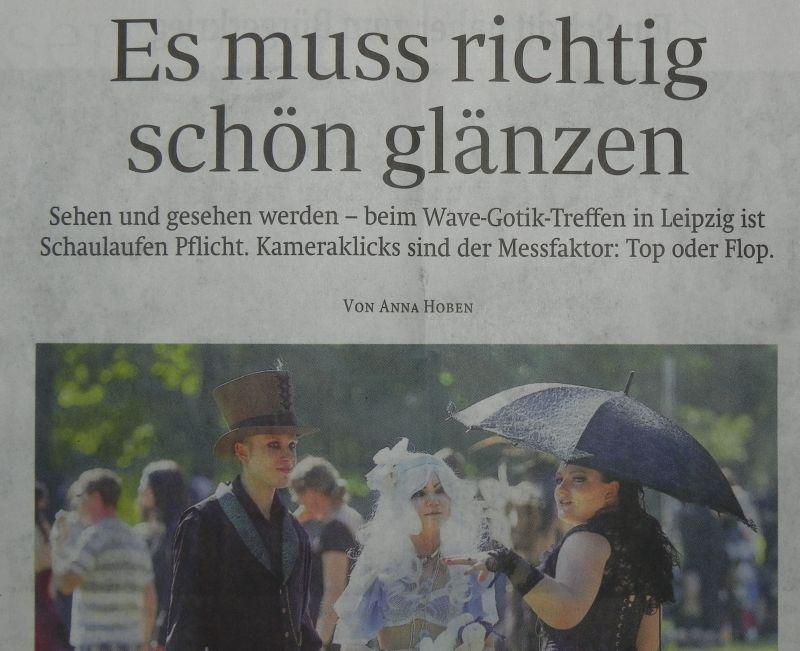Artikel zum WGT in der Sächischen Zeitung