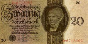 Zwanzig Reichsmark 1924