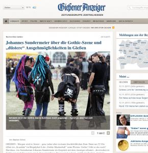 Der Gießener Anzeiger über die Gothic-Szene  9cc