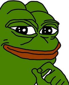 Gründer Frosch der lacht