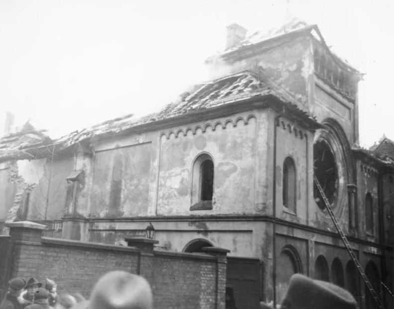 Ausgebrannte Synagoge