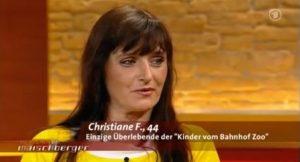 Christiane F. bei Maischberger