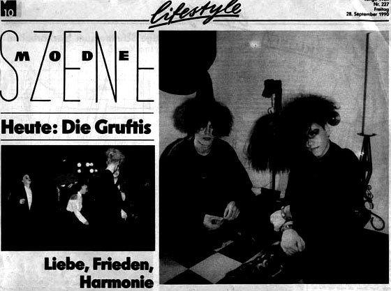 1991 – Die Gruftis – Liebe, Frieden und Harmonie? Vielleicht in der nächsten Welt