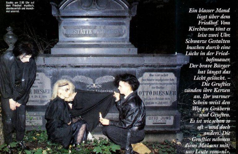 Neues Leben 1991: Totentanz in der Grufti-Szene