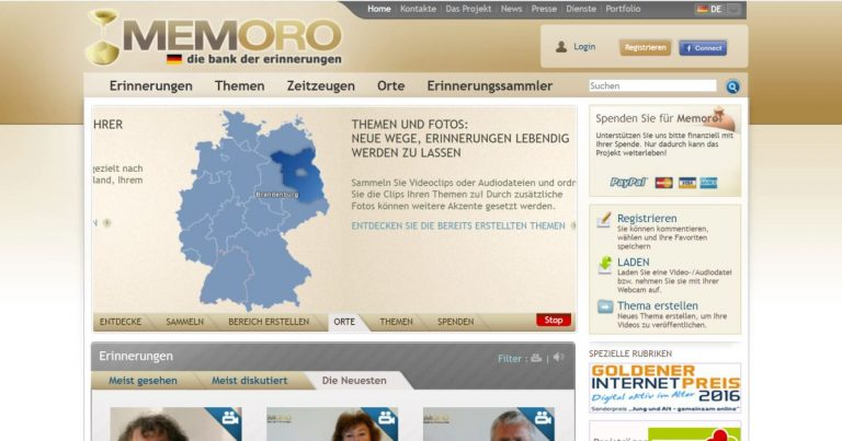 MEMORO Project – Erinnerst du dich?