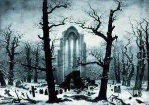 Casper David Friedrich - Klosterruine im Schnee