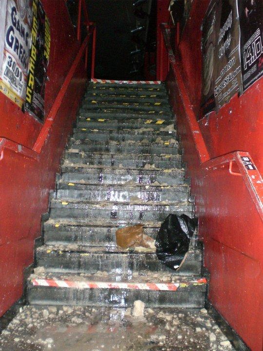 Feuer im Zwischenfall - Treppe zur 1. Etage