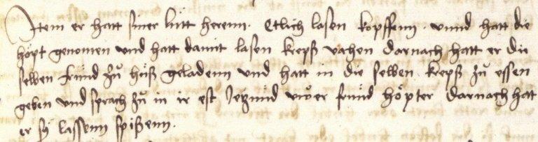 Handschrift Dracula