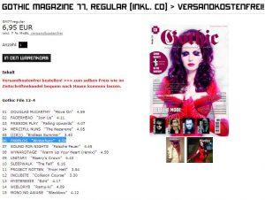 Farblos im Gothic Magazin
