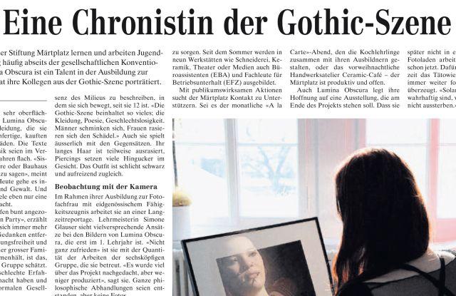 Zeitungsausschnitt Gothic-Chronistin