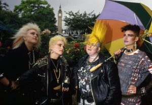 Punks in London 1983