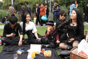 Viktorianisches Picknick in Shanghai