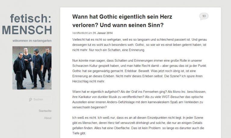 Kommentar: Wann hat Gothic eigentlich sein Herz verloren?