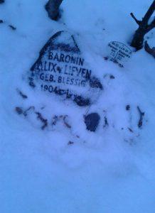 Friedhof Grunewald - Baronin Alex von Lieven