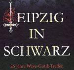 Leipzig in Schwarz - Schriftzug