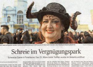 WGT Pressespiegel 2016 - Schreie im Vergnuegungspark
