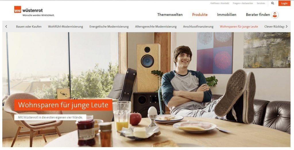 Bausparen mit Jugendbonus - Screenshot