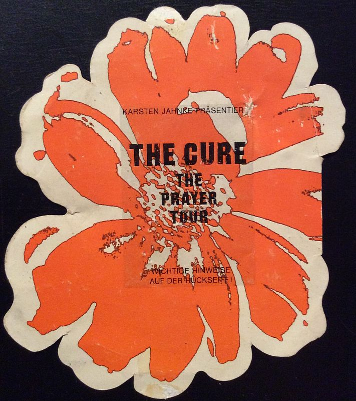 Cure Ticket 1990 Leipzig