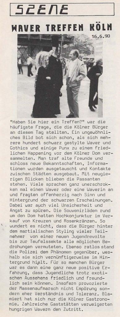 1990 - Domplattentreffen in Köln