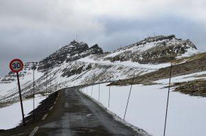 Färöer - Vereiste Strasse