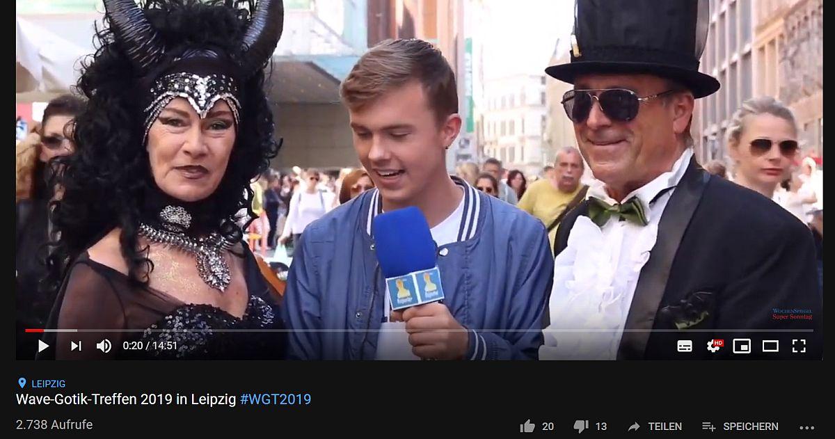 ce7ecc7175127 Video: Interviews in der Leipziger Innenstadt zum Wave-Gotik-Treffen ...