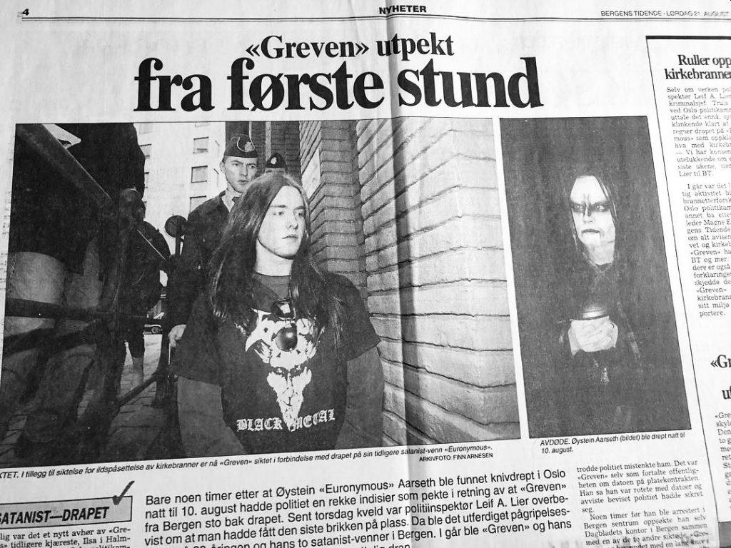 Varg Vikernes wird verhaftet