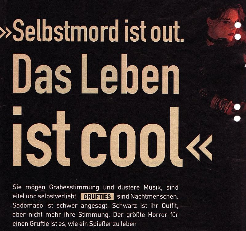 Selbstmord ist Out