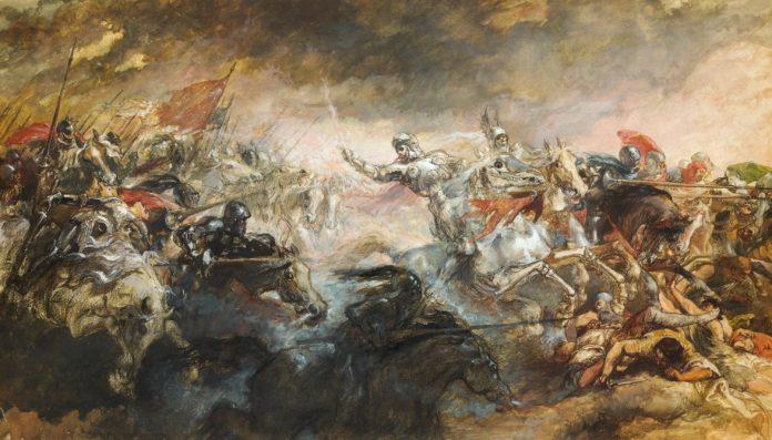 The Phantom Horseman,1870-93 by Sir John Gilbert (d.1897)