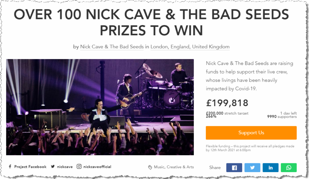Nick Cave & The Bad Seeds Crowdfunding